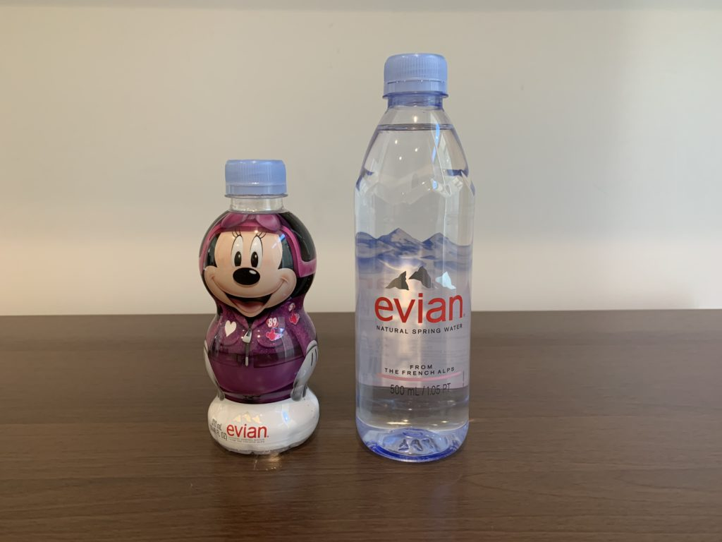 Evian Kids Character Bottle 310 mL and Evian 500 mL Results