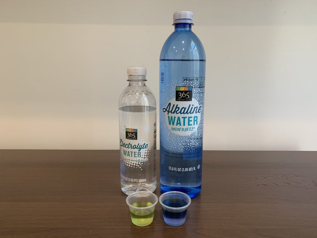 365 Everyday Value Alkaline Water and Electrolyte Water Test Result