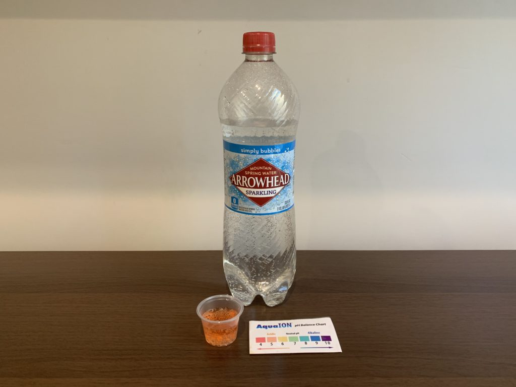 Arrowhead Sparkling Water Results