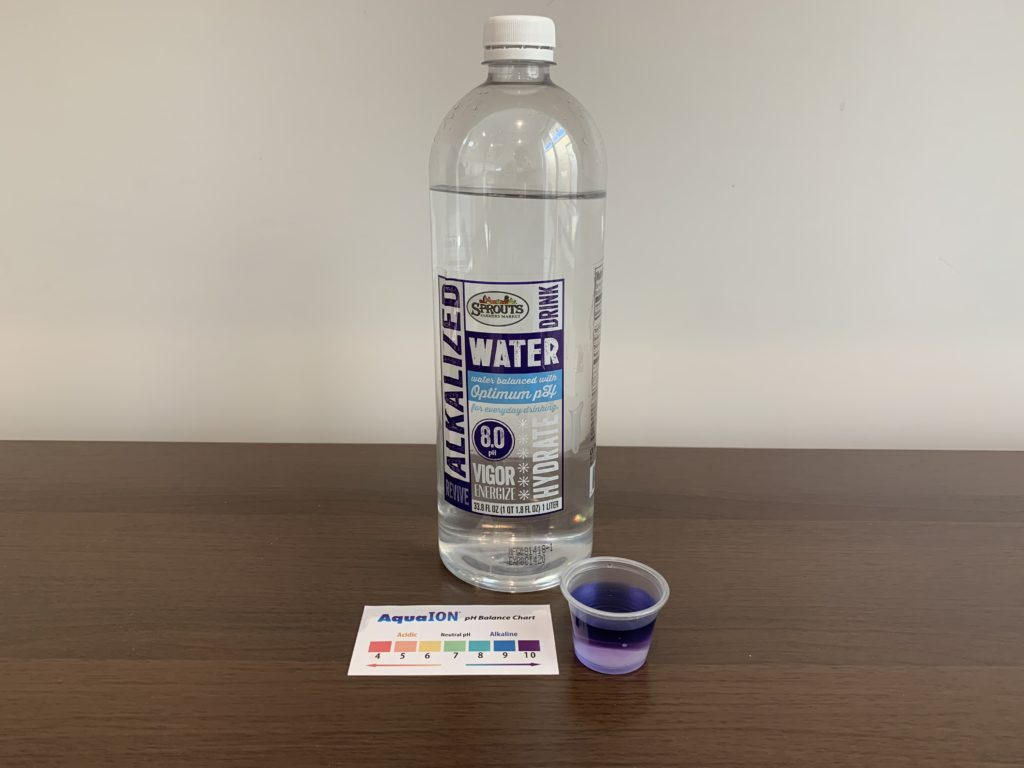 Sprouts Farmers Market Purified Alkalized Water Test Result