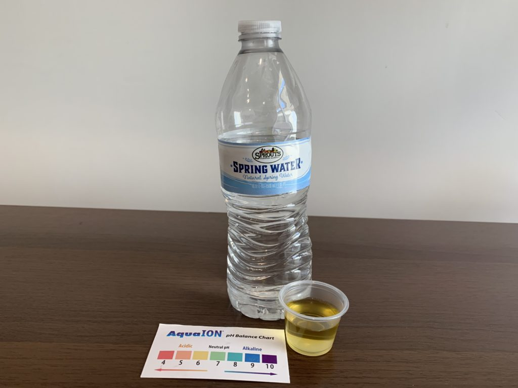 Sprouts Farmers Market Spring Water Result