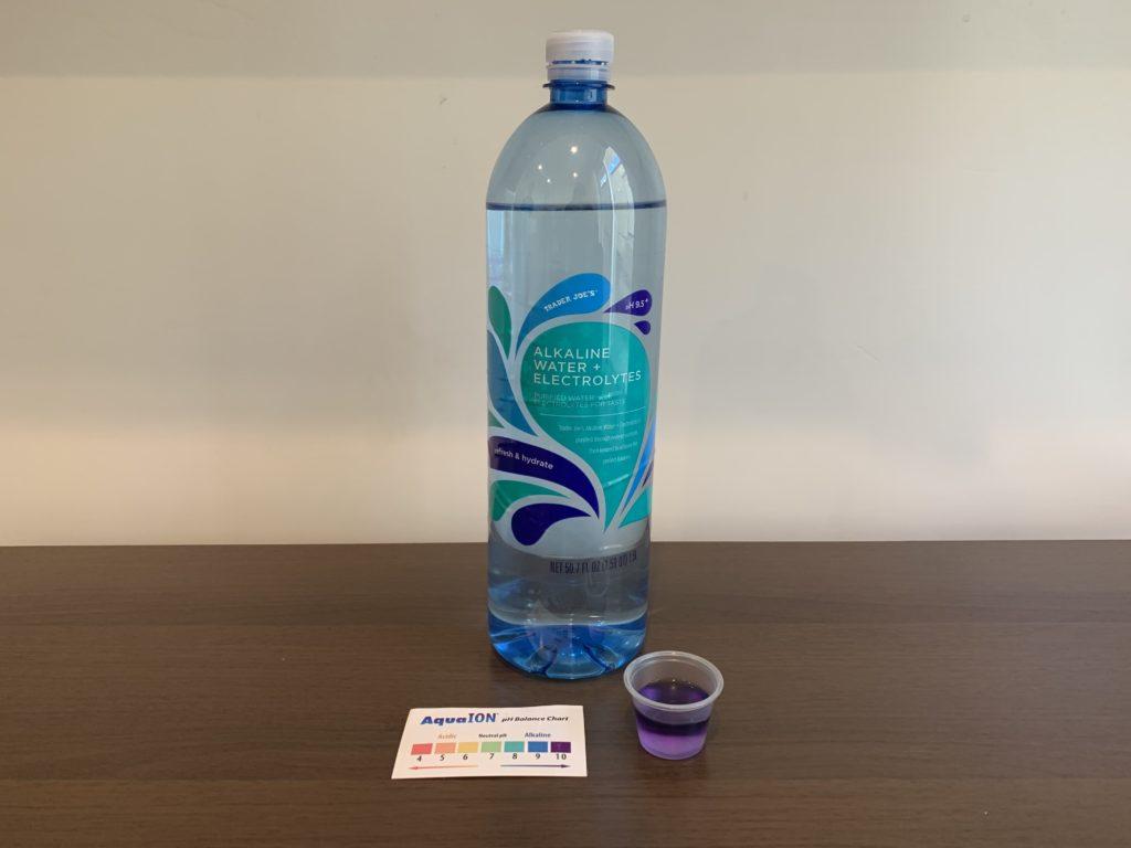 Trader Joes Bottled Alkaline Water Results