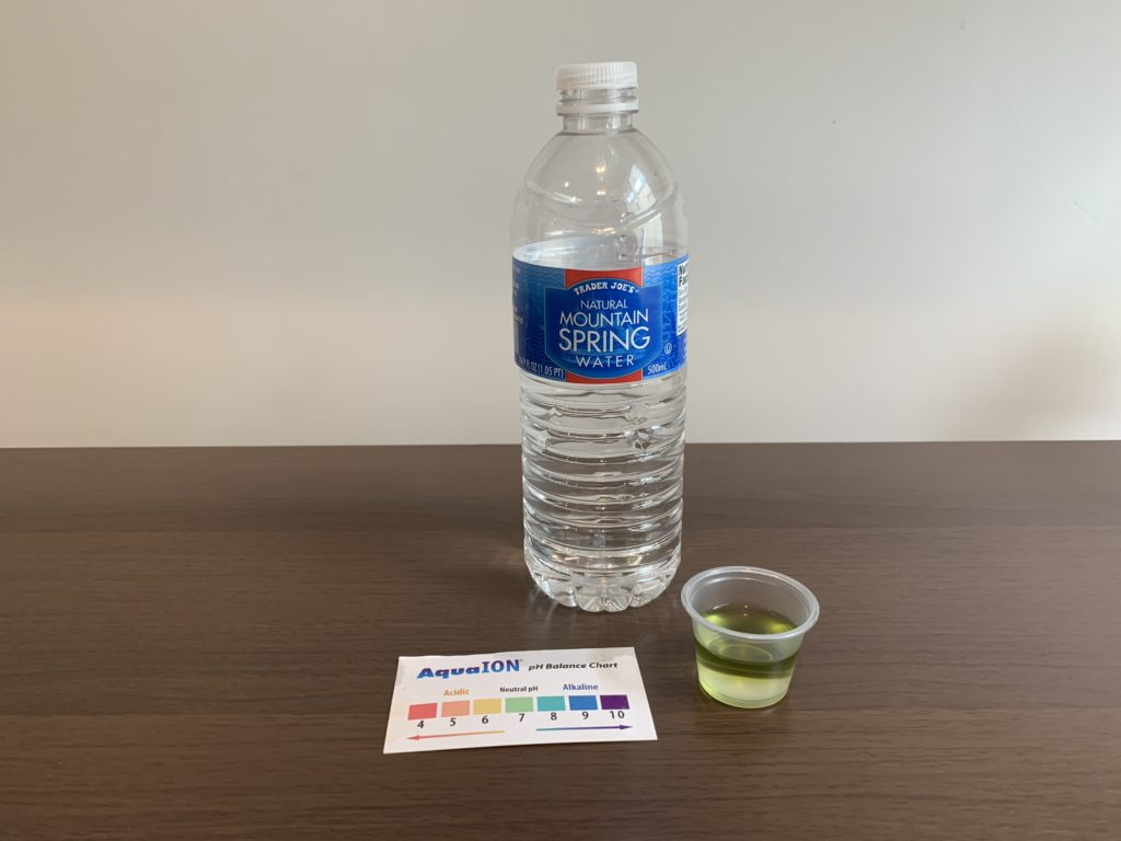 Trader Joe's Natural Mountain Spring Water Test Results