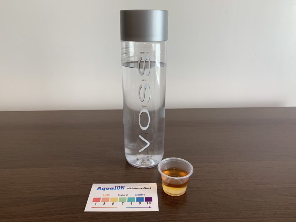 Voss Still Water Test Results