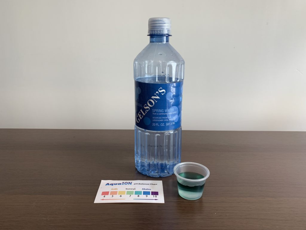 Gelson's Water Test Results