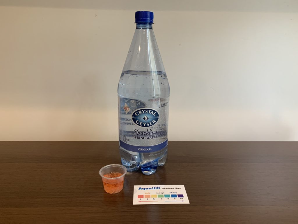 Crystal Geyser Sparkling Spring Water Test Results