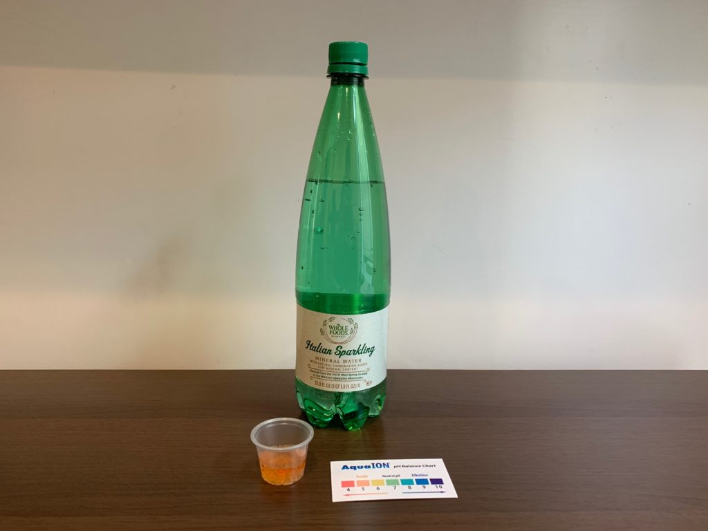 Italian Sparkling Mineral Water Test Results