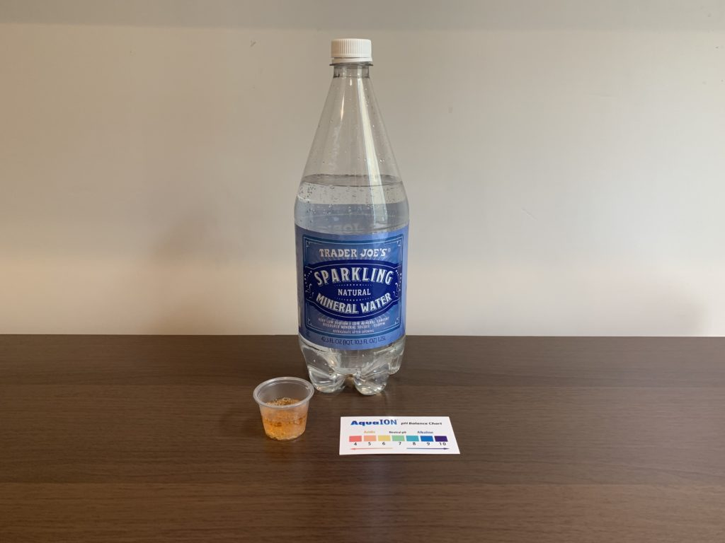 Trader Joes Sparkling  Water Test Results