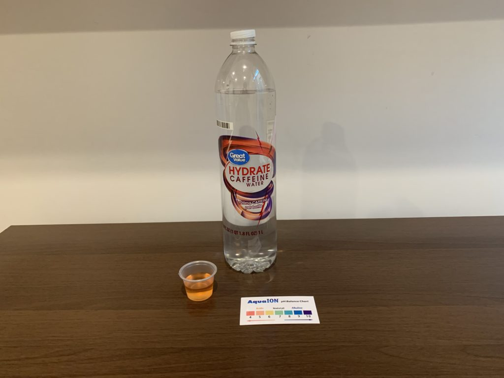 Great Value Hydrate Caffeine Water Test Results