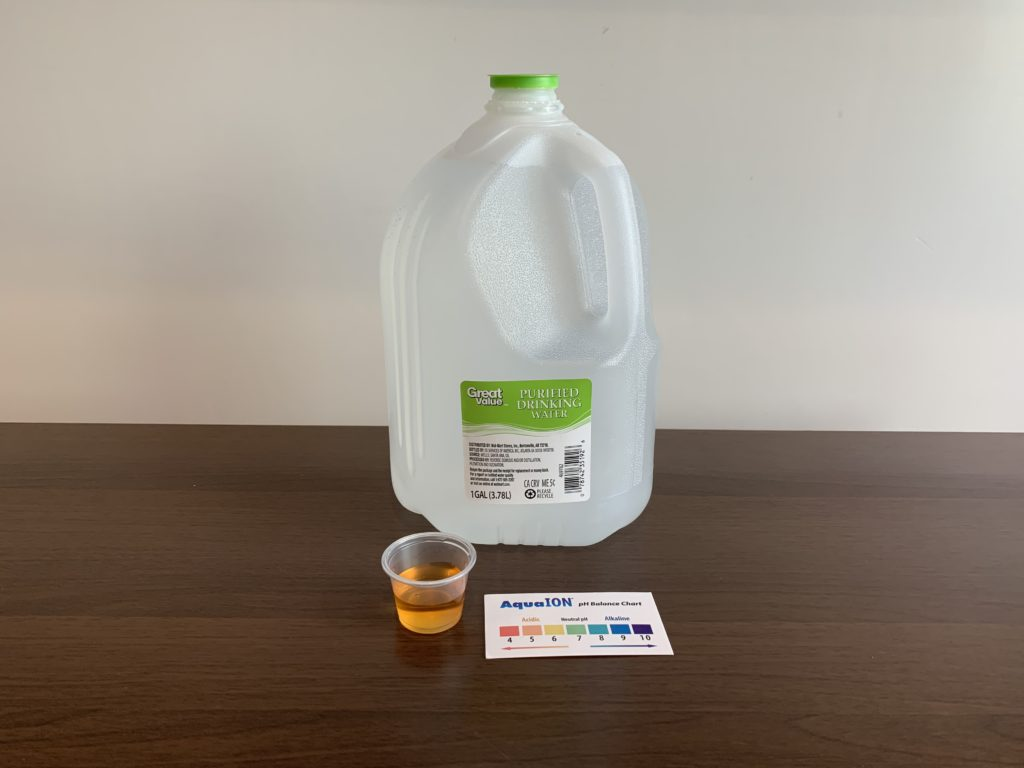 Great Value Purified Water Test Results
