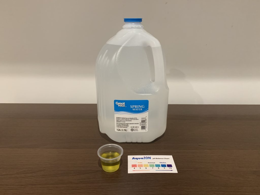 Great Value Spring Water Test Results