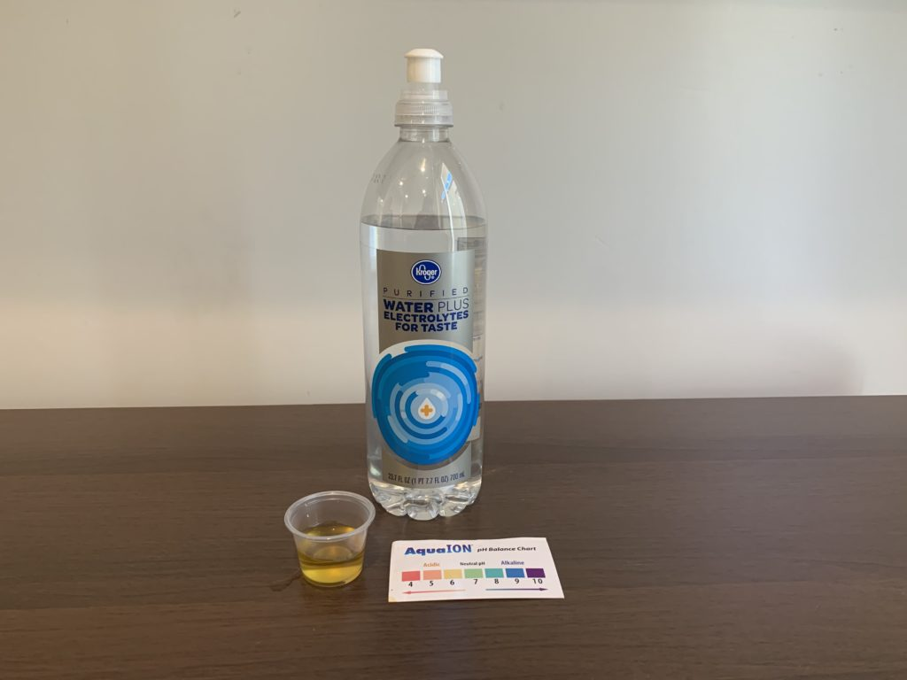Kroger Electrolyte Water Test Results