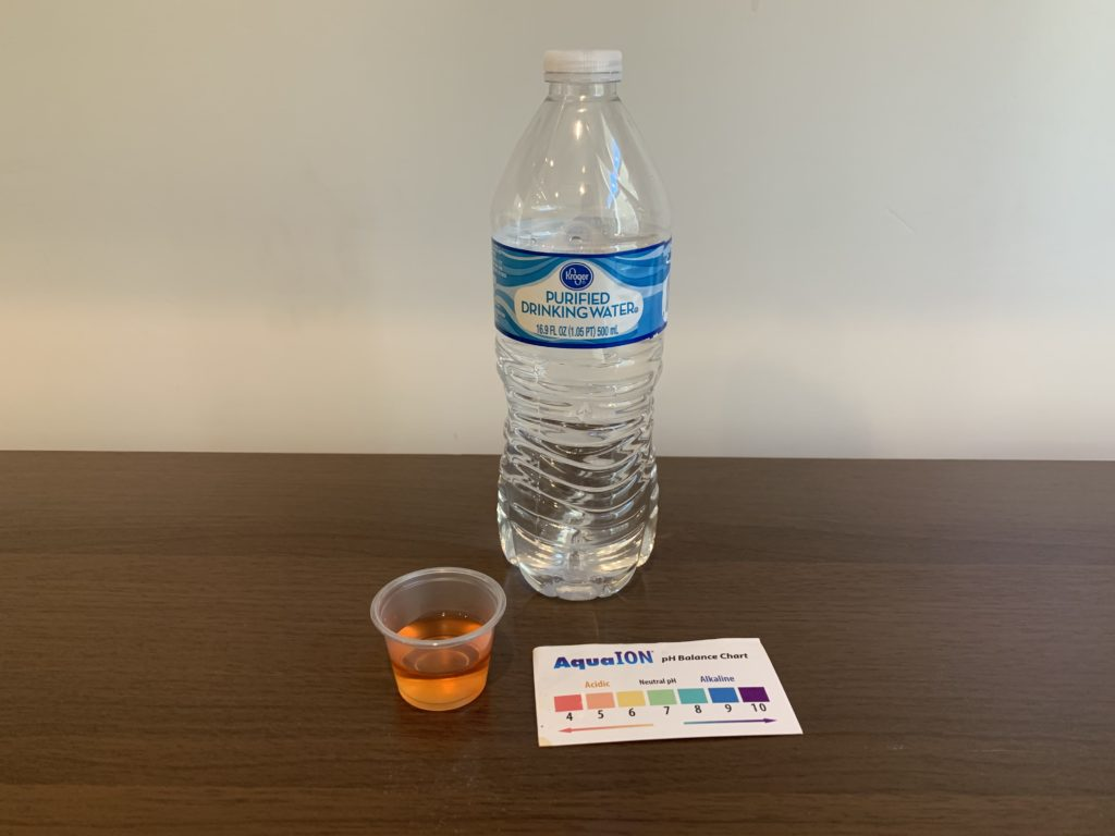Kroger Purified Water Test Results