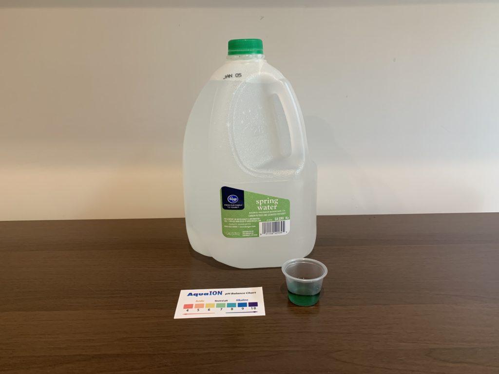 Kroger Spring Water Test Results