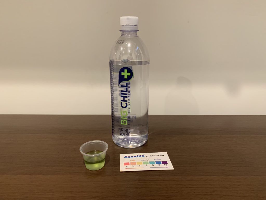 Big Chill Purified Water Test Results