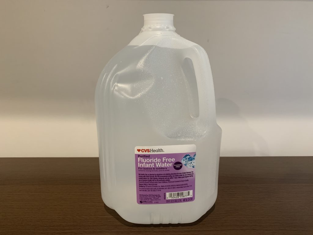 CVS Purified Fluoride-free Infant Water Test