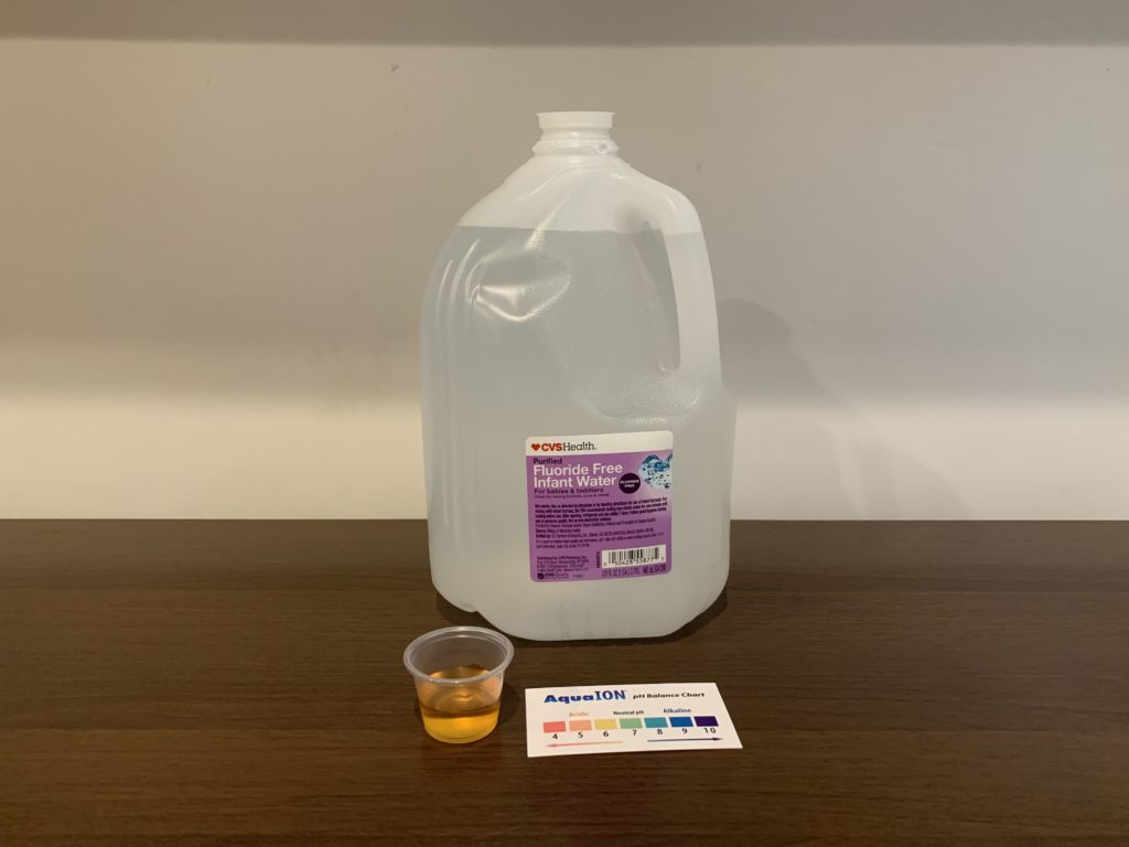 CVS Purified Fluoride-free Infant Water Test Results