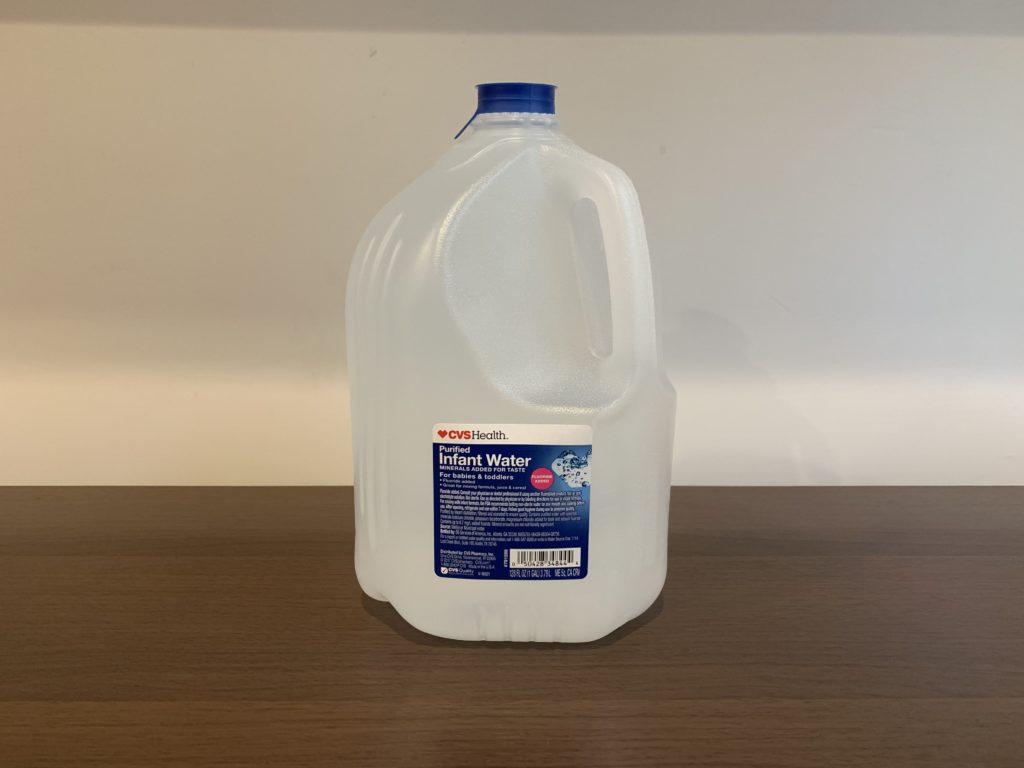 CVS Purified Infant Water Test