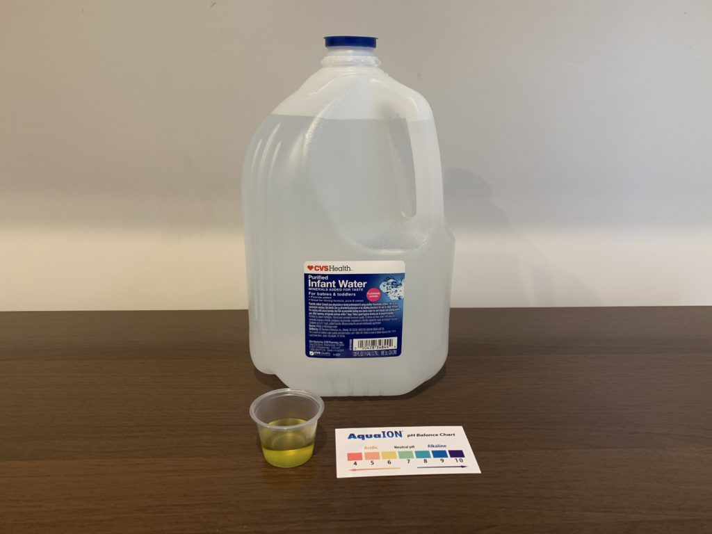 CVS Purified Infant Water Test Results
