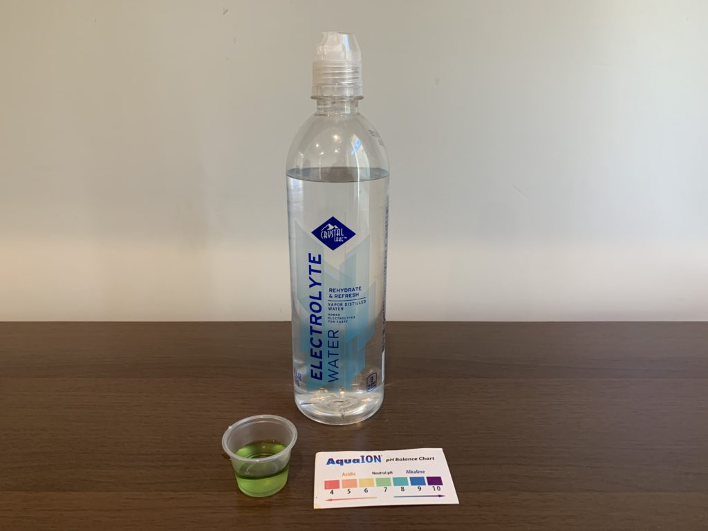 Crystal Lake Purified Water Test Results