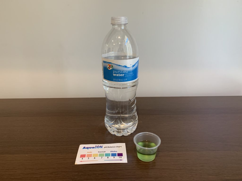Select 7 Purified Water Test Results