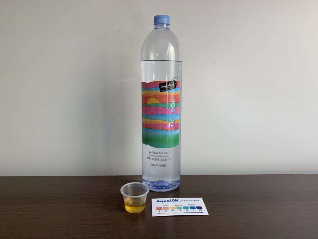 Signature Select Tru Sol Water Test Results