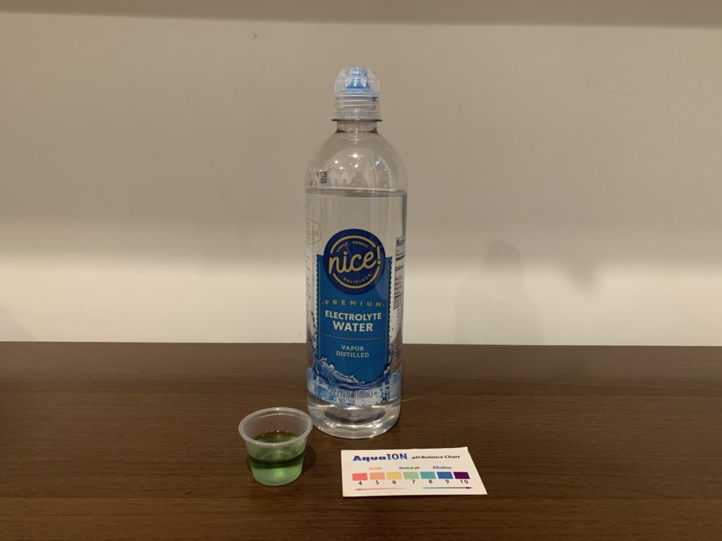 Nice Premium Electrolyte Water Test Results