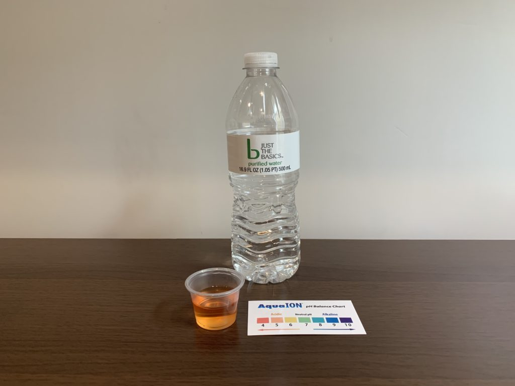 Just The Basics Water Test Results
