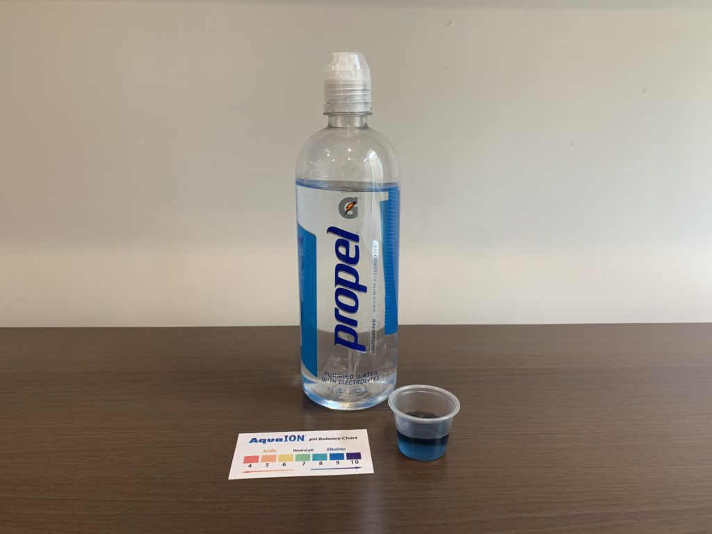 Propel Water Test Results