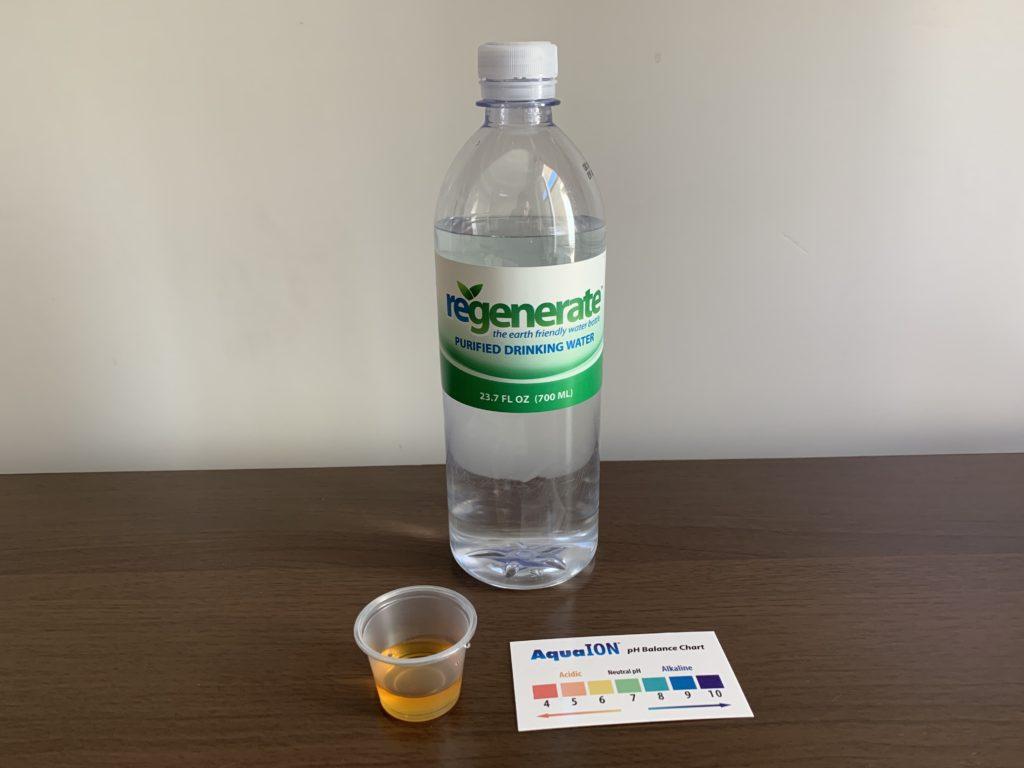 Regenerate Water Test Results