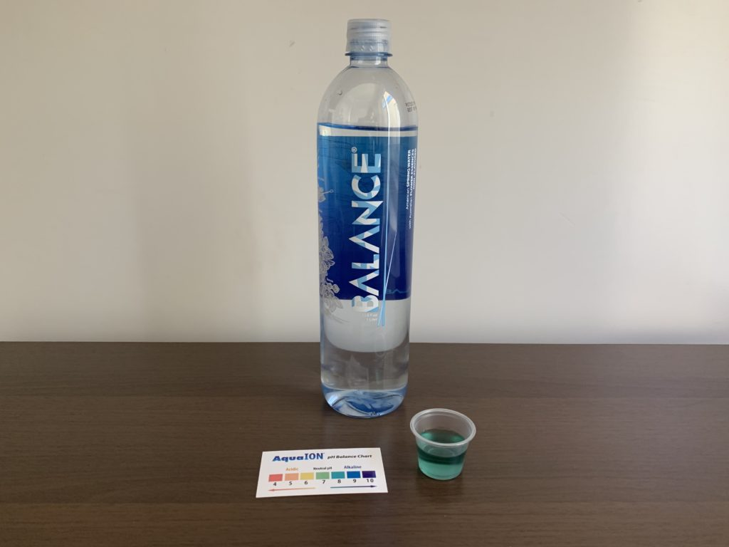 Balance Water Test Results