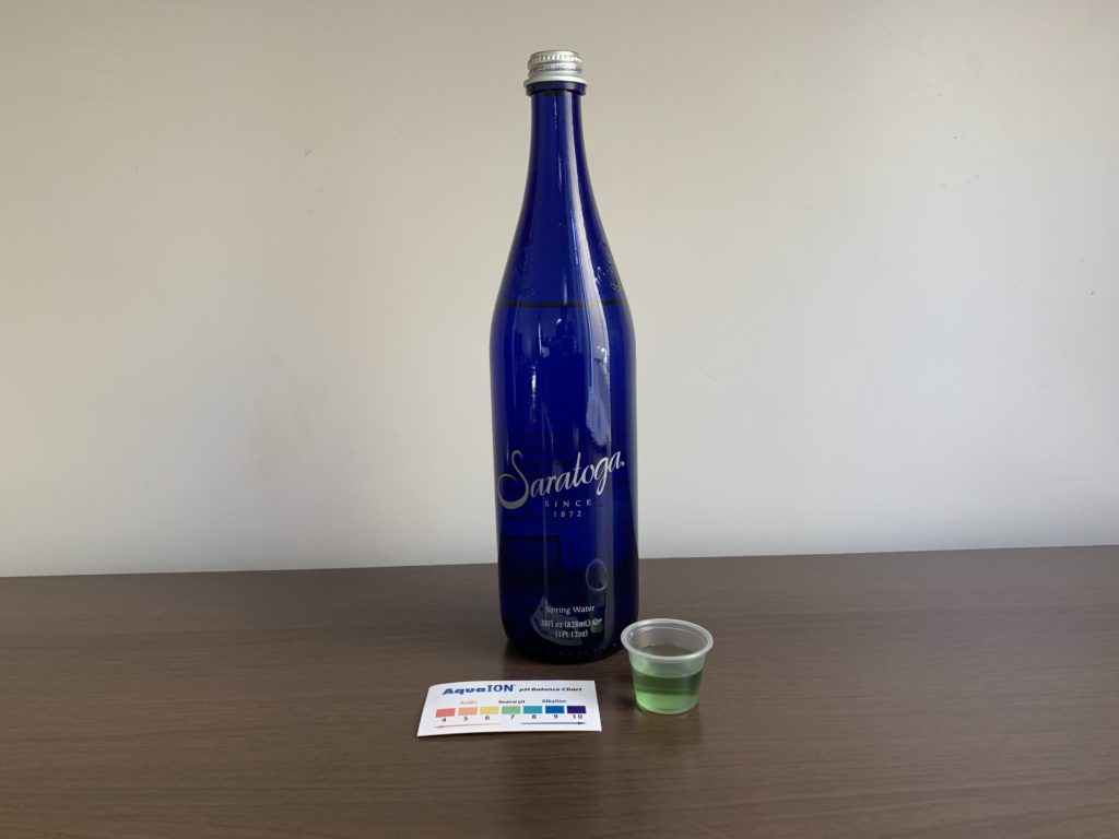 Saratoga Water Test Results