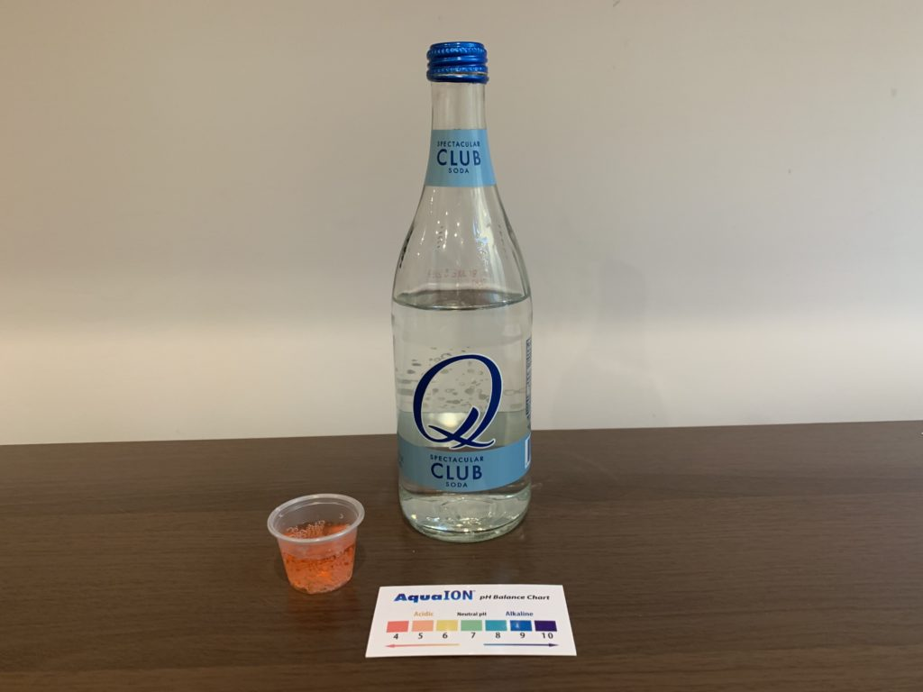 Q Club Soda Water Test Results