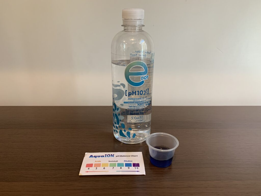 E Dot Water Test Results