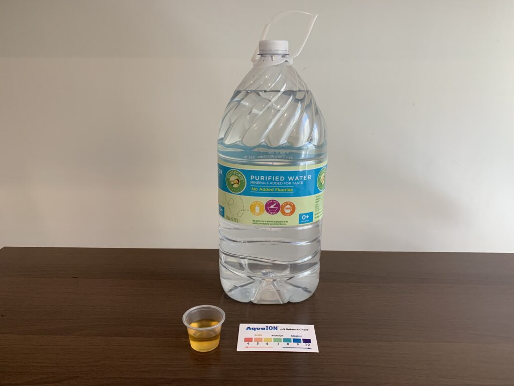 Comforts Water Test Results