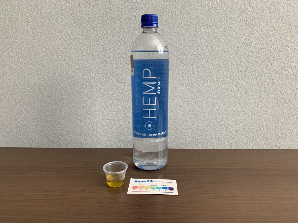 Hemp Hydrate Water Test Results